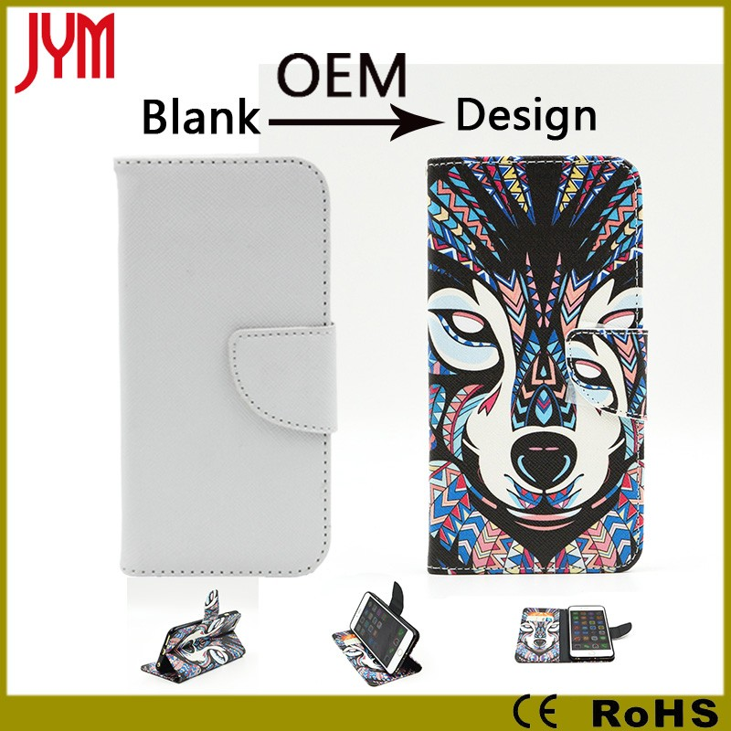 customize your own cell phone case for samsung s4/s5/s6 pu leather wallet flip case