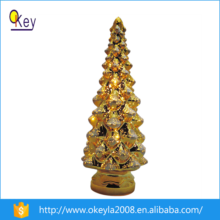 2016 Best Price Gold LED Christmas Tree Ornaments For New Business Items