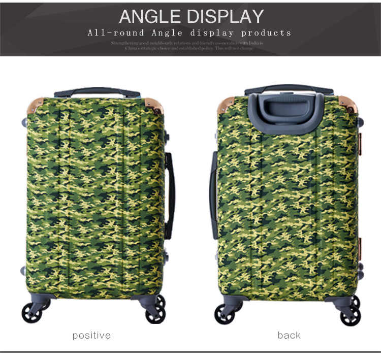 HLW aluminum metal suitcase pc crossing luggage bag
