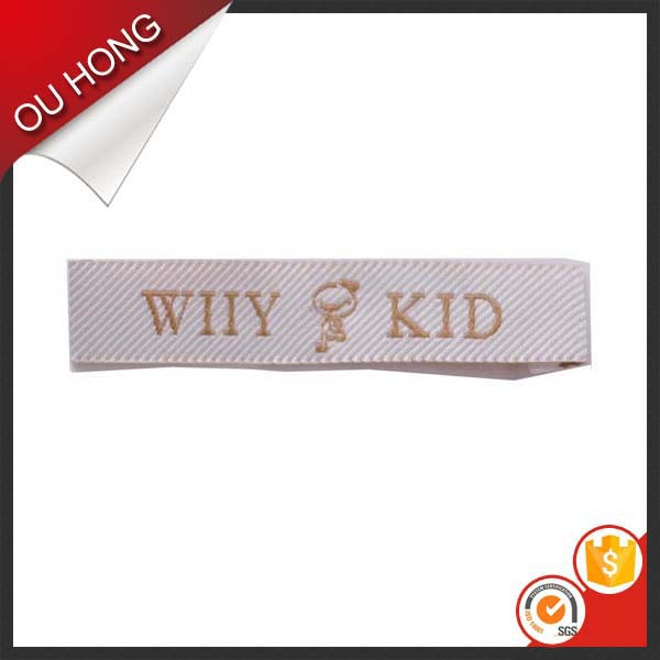 Clothing Garment End Fold Custom Damask Polyester Main Woven Label