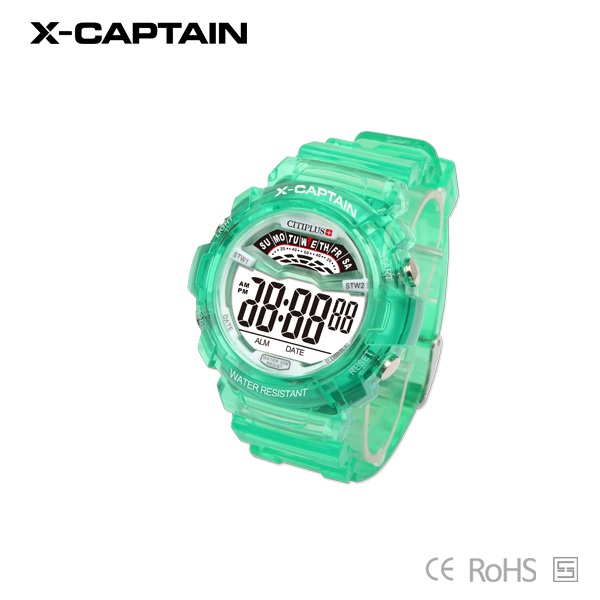 factory ladies digital sport rainbow watch