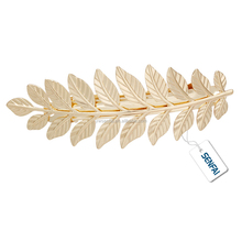 2017 wholesale metal golden barrette leaf shape hair barrette