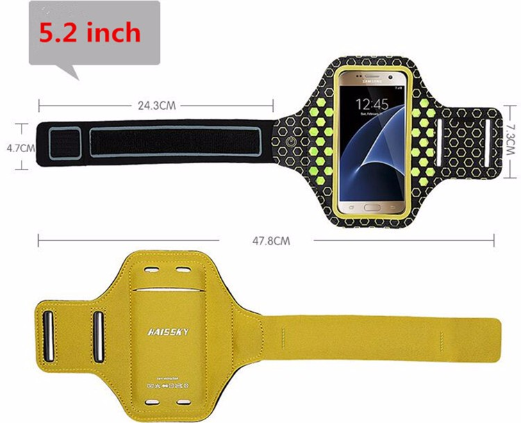 HAISSKY Neoprene LED Armband case,sport armband,running armband for iPhone 7/7 plus and iphone 6/6 plus