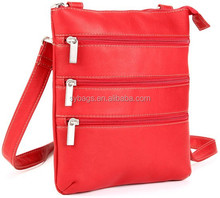 Tall vertical messenger genuine leather bags for men and women ipad and tablets crossbody bags