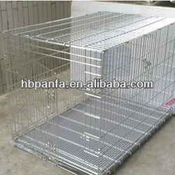 Stainless Steel Pet Cage/stainless folding dog cage /Dog kennel\Heavy duty folding dog cage \foldaway dog cage