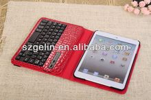 2013 crocodile pattern rubber bluetooth keyboard for ipad2