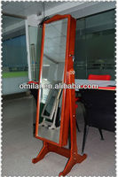 2014 More-ECO White standing dressing mirror jewelry cabinet