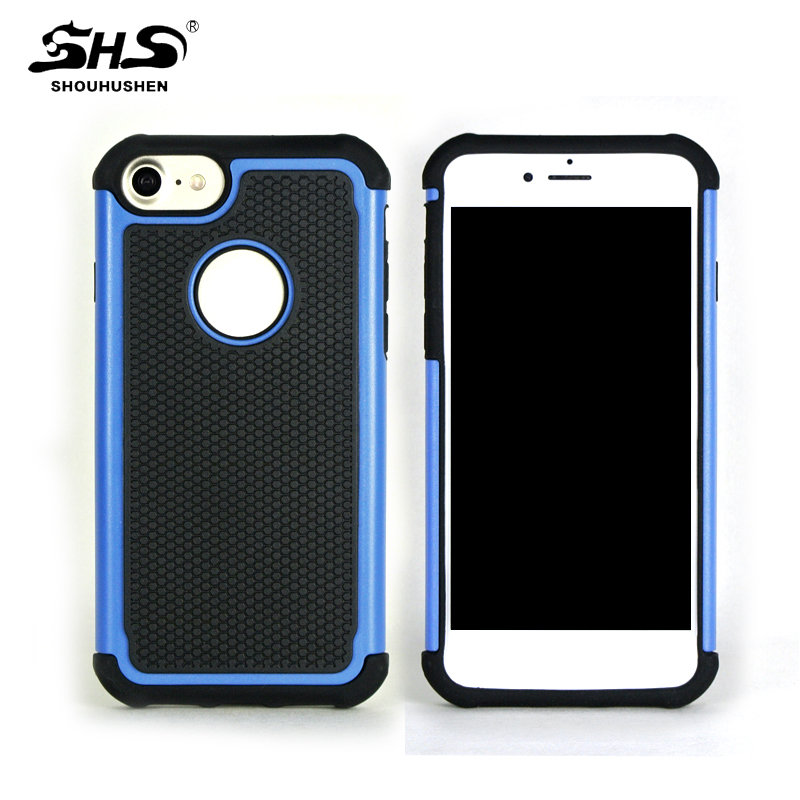 New Shockproof 2 In 1 Cell Phone Protective Cover Case For iPhone 7