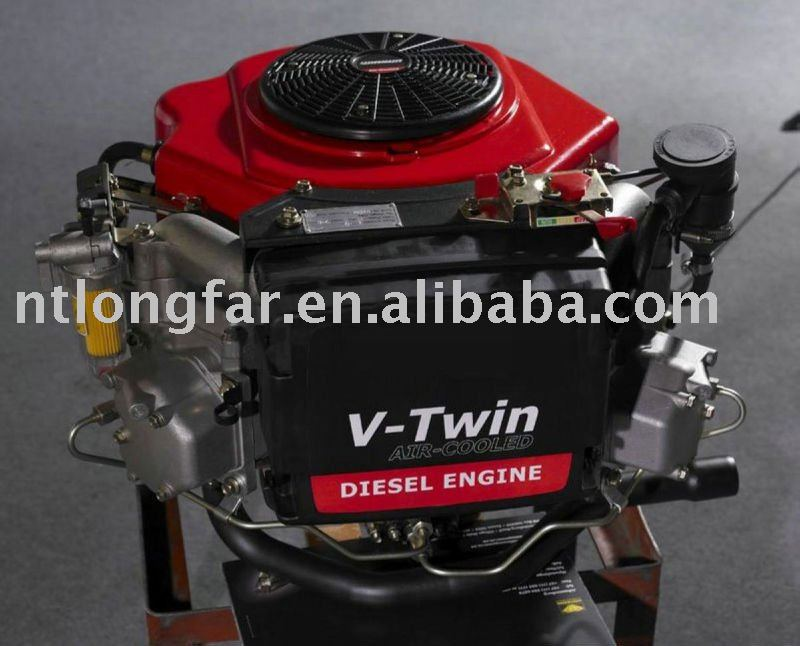 22hp vertical shaft lawnmower engine