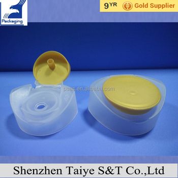 Custom baby shampoo cap plastic tube flip top Shampoo bottle cap