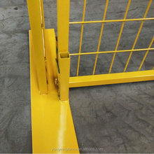 high quality galvanized steel welded prefab fence panels base
