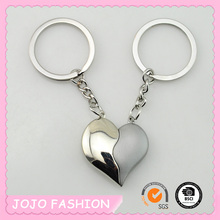 2016 Wholesale Fashion Heart Shape Custom Metal Magnet Iron Double Couple Metal Keychain In Key Chains For Sale