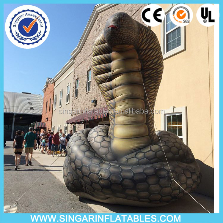 Custom inflatable advertising cartoon,inflatable snake cobra