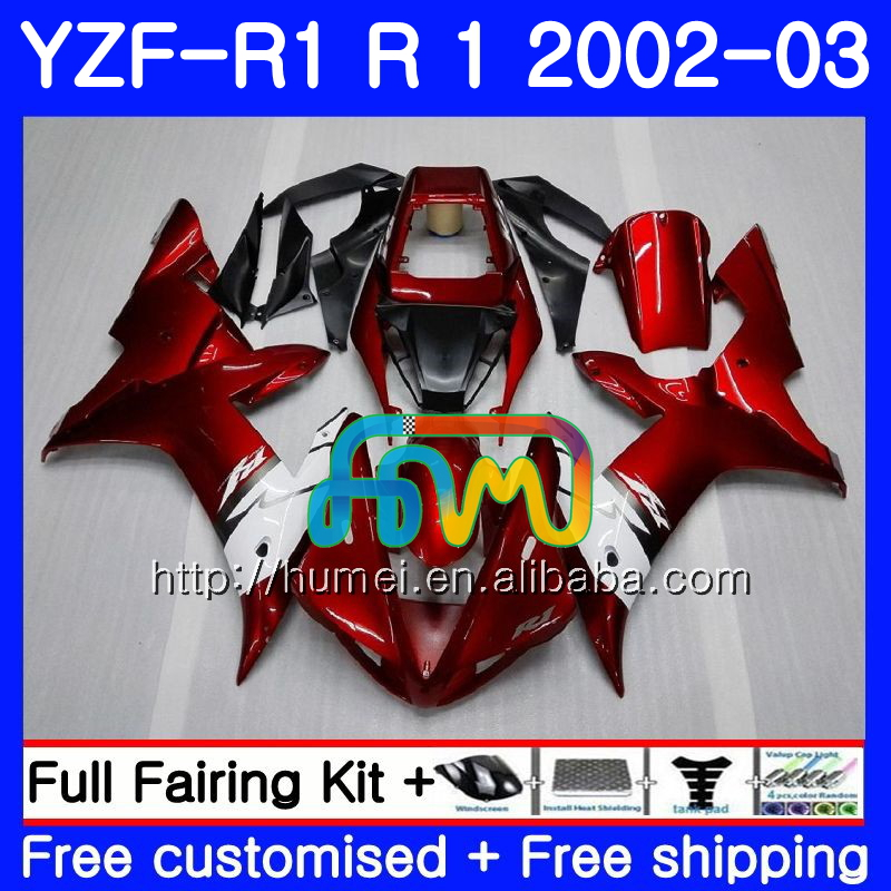 Body For YAMAHA YZF 1000 YZFR1 <strong>02</strong> <strong>03</strong> glossy black YZF-1000 Bodywork 99HM12 YZF R 1 YZF <strong>R1</strong> <strong>02</strong> <strong>03</strong> YZF1000 YZF-<strong>R1</strong> 2002 2003 <strong>Fairing</strong>