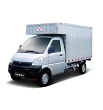 Wuling light duty 1200cc gasoline dry box van truck on sale
