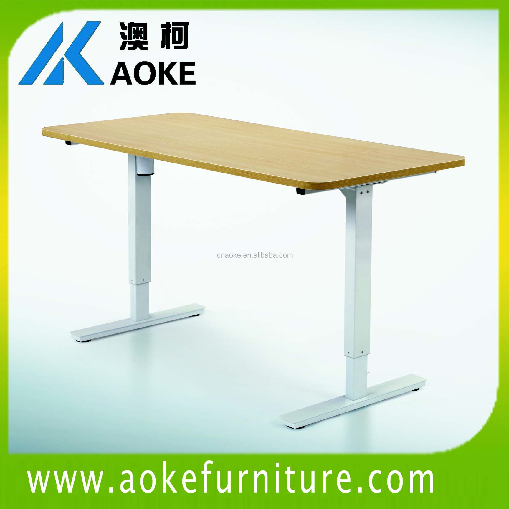 single motor adjustable height children desk and chair