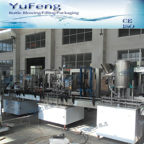 Economic complete filling line for carbonated water