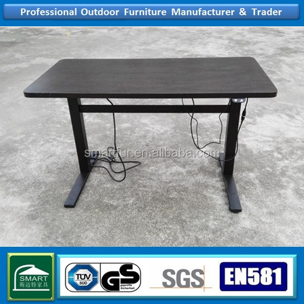Height adjustable powder driven folding table legs heavy duty hydraulic lift table