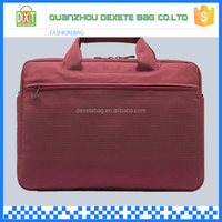 Wine red polyester material custom design laptop handbag