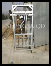 high Quality cattle crush sliding gate headlock