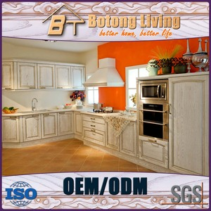 Botong Living KC-SW16 kitchen cabinet self assemble rubber wood affordable modern kitchen cabinets