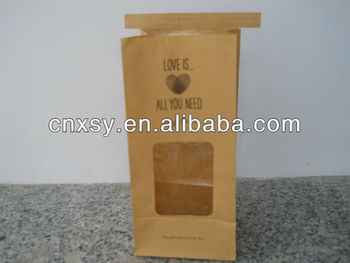 Stand Up Pouch Kraft Paper coffee Bag With Window
