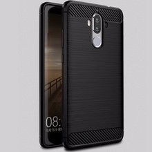 Shock Proof Carbon Fiber Brush TPU Phone Case Cover For Huawei Mate 9 Soft Back Case
