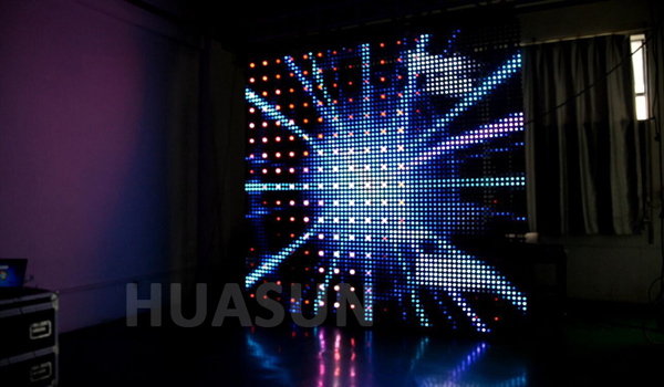 Full color Creative video screen with spotlight for stage,concert backdrop