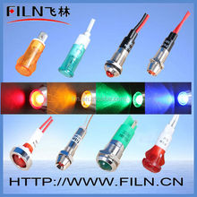 High quality 500000h Best LED 10mm incoming call indicator light with wire