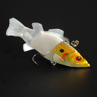 5290 75mm 10g vibrators fishing lures with soft tail