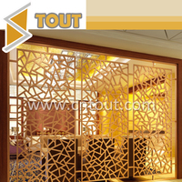 Customized Stainless Steel Fabrication Room Decorative Divider Screen