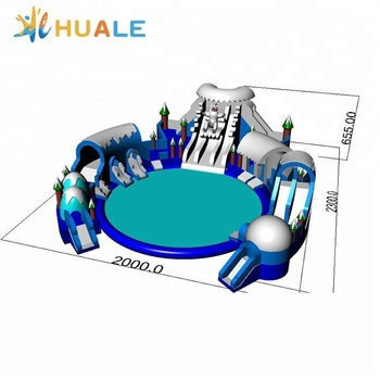Huale Outdoor amusement giant inflatable water park design,water park equipment