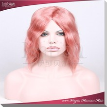 Isabel Hair Products 6A pink lace wig 2015 100% human hair wigs high quality glueless lace front wig with baby hair