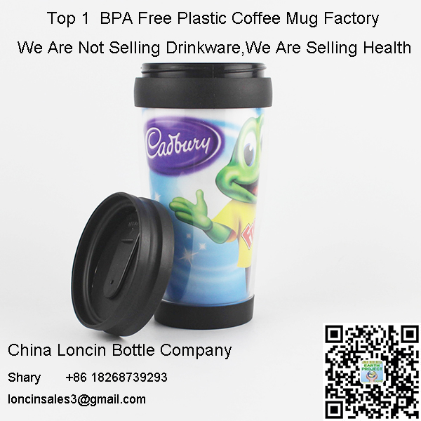 Double Wall Plastic Travel Mug With Changeable Paper Insert,Design Acrylic Coffee Mug With Logo,Photos Insert Change For Cups