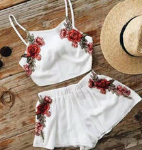 L0849A summer flower tops and shorts two piece romper womens rompers playsuit