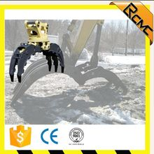 Hydraulic rotating wood grapple for 20 ton excavator