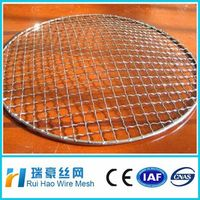 high quality hot dipped galvanized crimped barbecue wire mesh