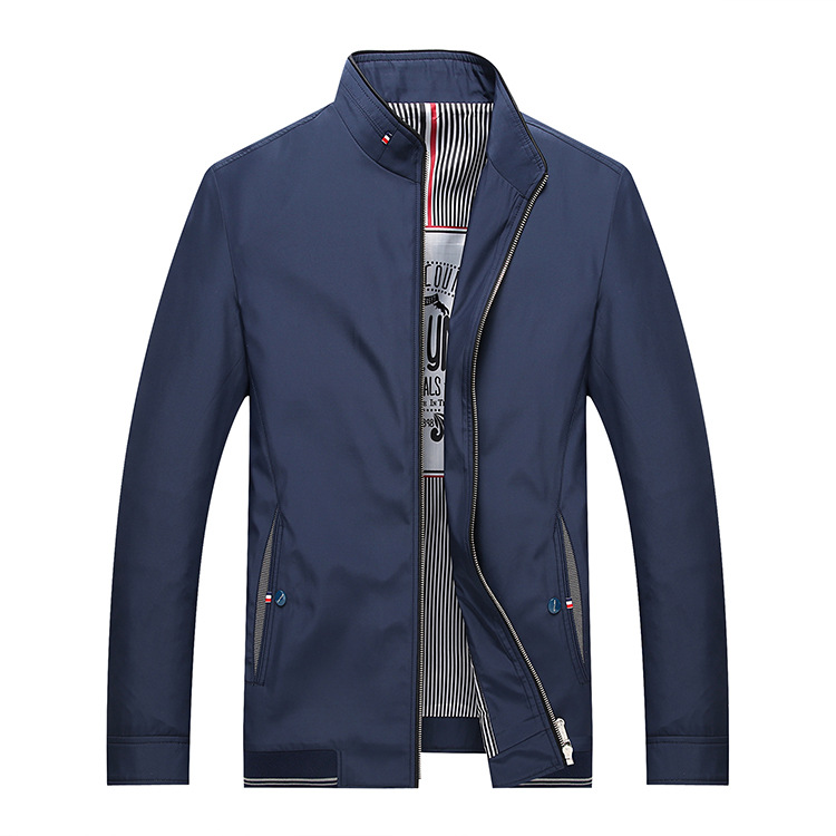 Mens Fashion Deep Blue Quilted Zip Bomber Business Jacket From Alibaba Website