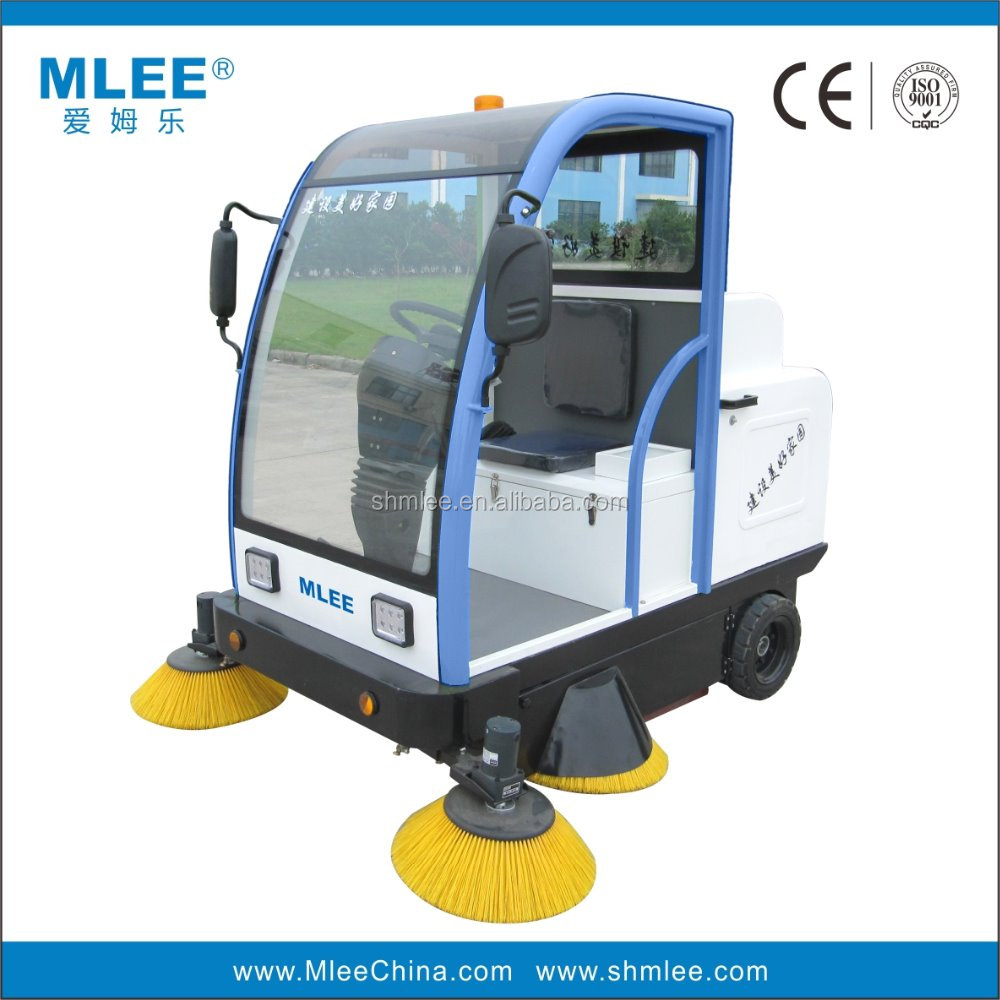 MLEE1800 commercial manual electric floor cleaning machine industrial street cleaning vehicle