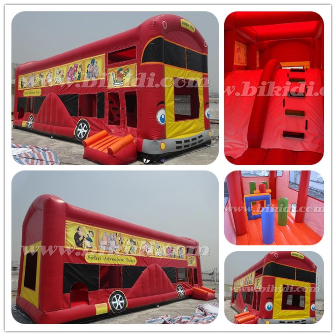 Funny inflatable school bus, Big Bus Inflatable Bouncer/Jumper for kids B3104