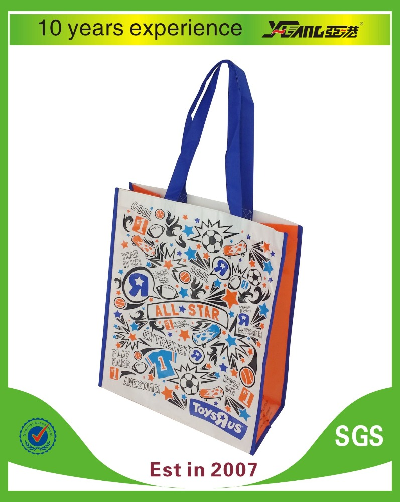 Promotional supermarket non woven polyester shopping bag