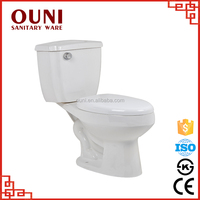 ON-215 High quality stain resistant siphonic two piece hospital bidet toilets
