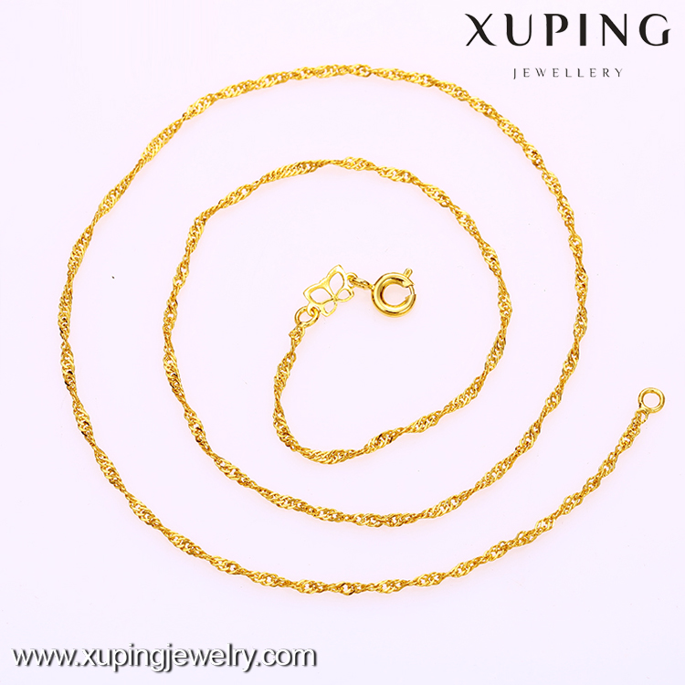Xuping dubai gold 24K wholesale imitation jewellery necklace female