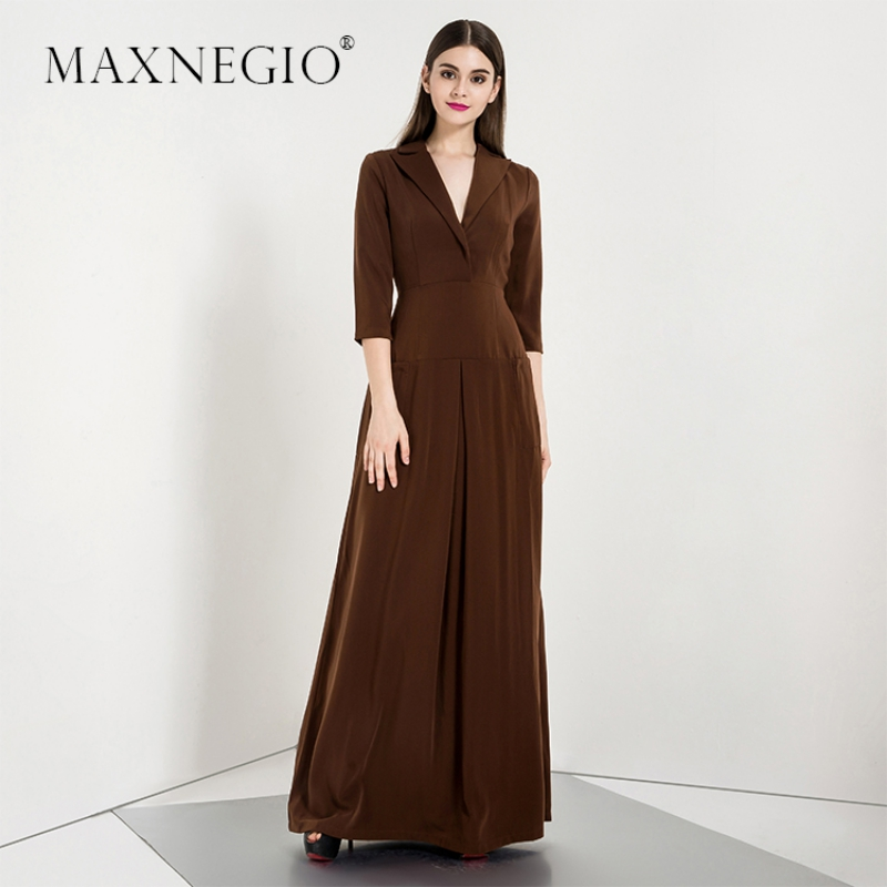 Latest Design Muslim Women Long Muslimah Dress V-Neck Long Sleeve Muslim Evening Dress