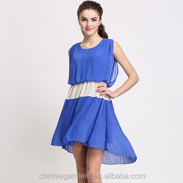 D022 Ladies Fashion Model Chiffon Latest Color Combinations of Dresses