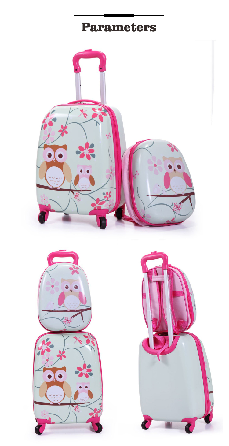 16inch 12inch trolley luggage bag sets travel bags