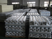 pipe duct heat insulation fabric silver reflective aluminum foil cloth