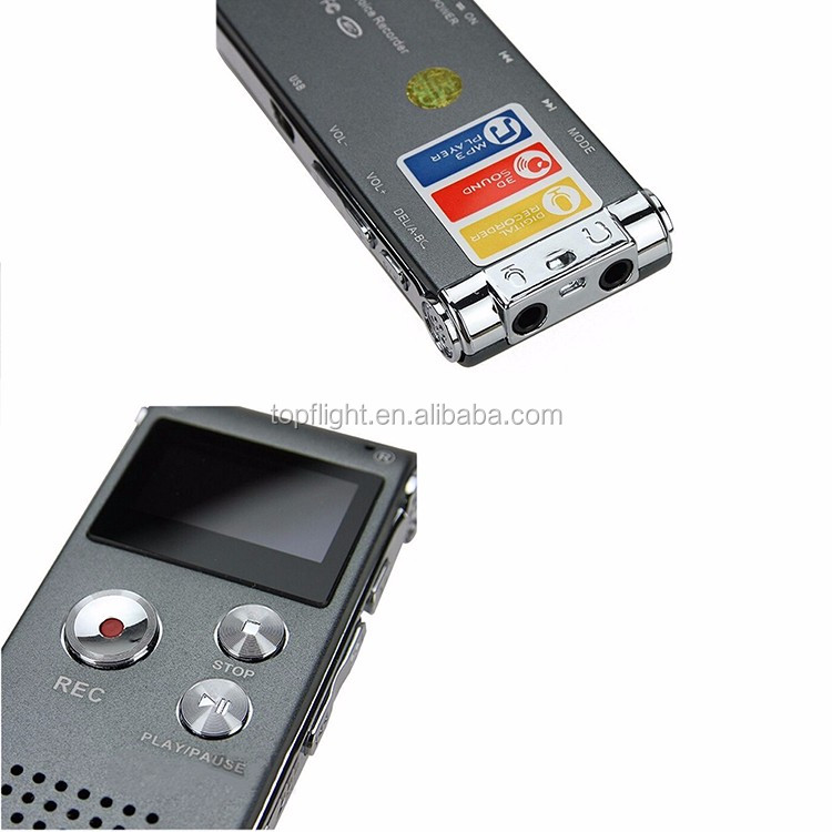 8GB Digital Voice Recorder Telephone Audio Recorder MP3 Player Micro Voice Recorder Recording Voice with Card