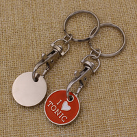 Custom Metal Soft Enamel Shopping Trolley Coin/Token Keyring