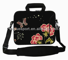 Colorful Neoprene Laptop Carrying Bag Case with Handle & Shoulder Strap
